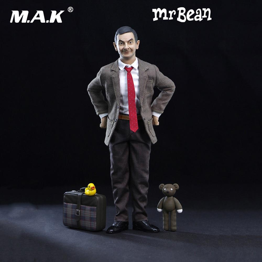 Hot sale 1/6th Mr. Bean Rowan Atkinson Single Body Ver. W 2pcs Head Action Figure Collectible Figure full set action figure 2pcs mr bean 40cm