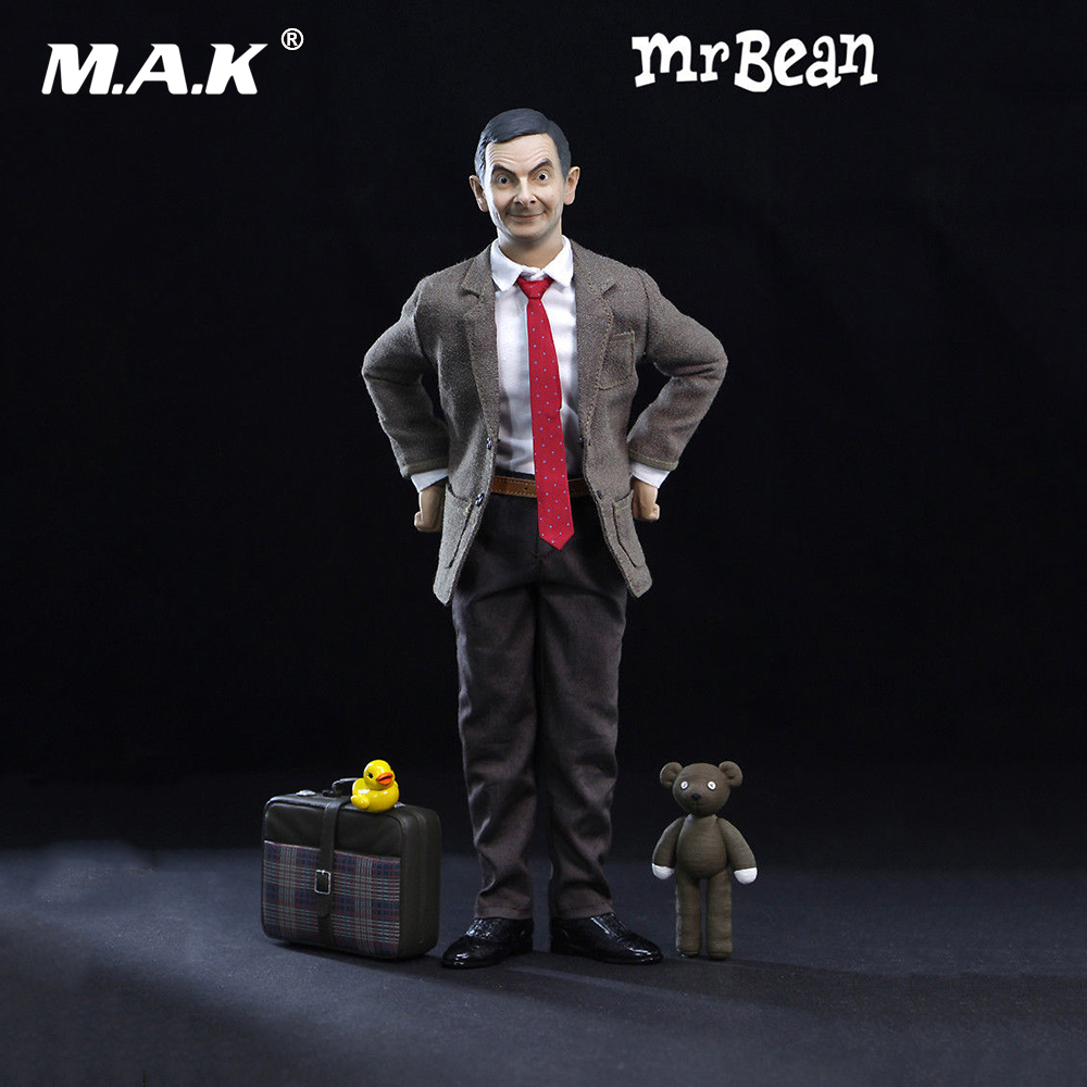 Vendita calda 1/6th Mr. Bean Rowan Atkinson Corpo Unico Ver. W 2 pz Testa Action Figure Da Collezione Figura set completo action figure
