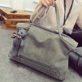 2016 New Fashion Brand Women Handbag Luxury Matte PU leather Large Big Bag Shoulder Messenger Bags Bear Pendant F530