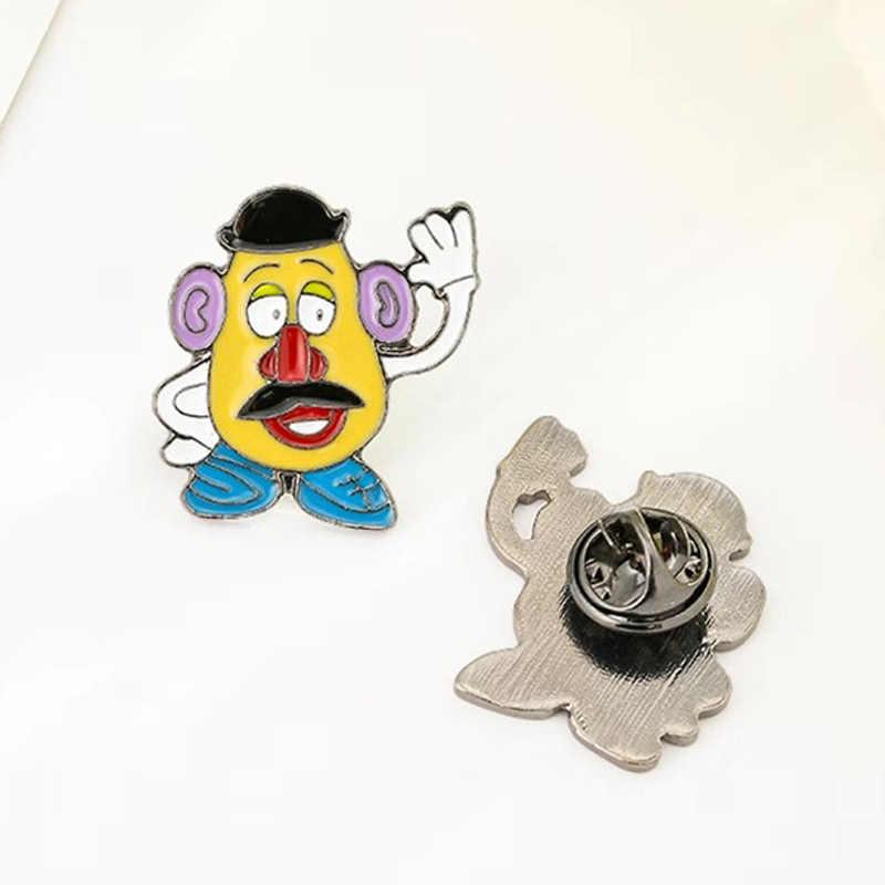1 PC Karakter Kartun Bros Anime Betty Simpson Bros Ransel Mahasiswa Pakaian Bros Pin Tas Dekorasi Bros Lencana Perhiasan