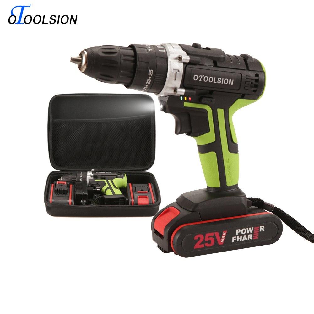 25 V 1.5 Ah outils électriques perceuse tournevis indicateur LED lumière sans fil perceuse batterie tournevis Rechargeable tournevis EU