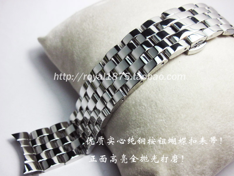 18 19MM 20 21 22mm Watch band Parts T41 male strip Solid Stainless steel for Tissot omega Seiko bracelet straps L264 L164/264-1 цена