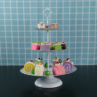 3 tiers metal Cake Stand with Trays Metal Cupcake Stand Holder Food Desserts Display Home Bar