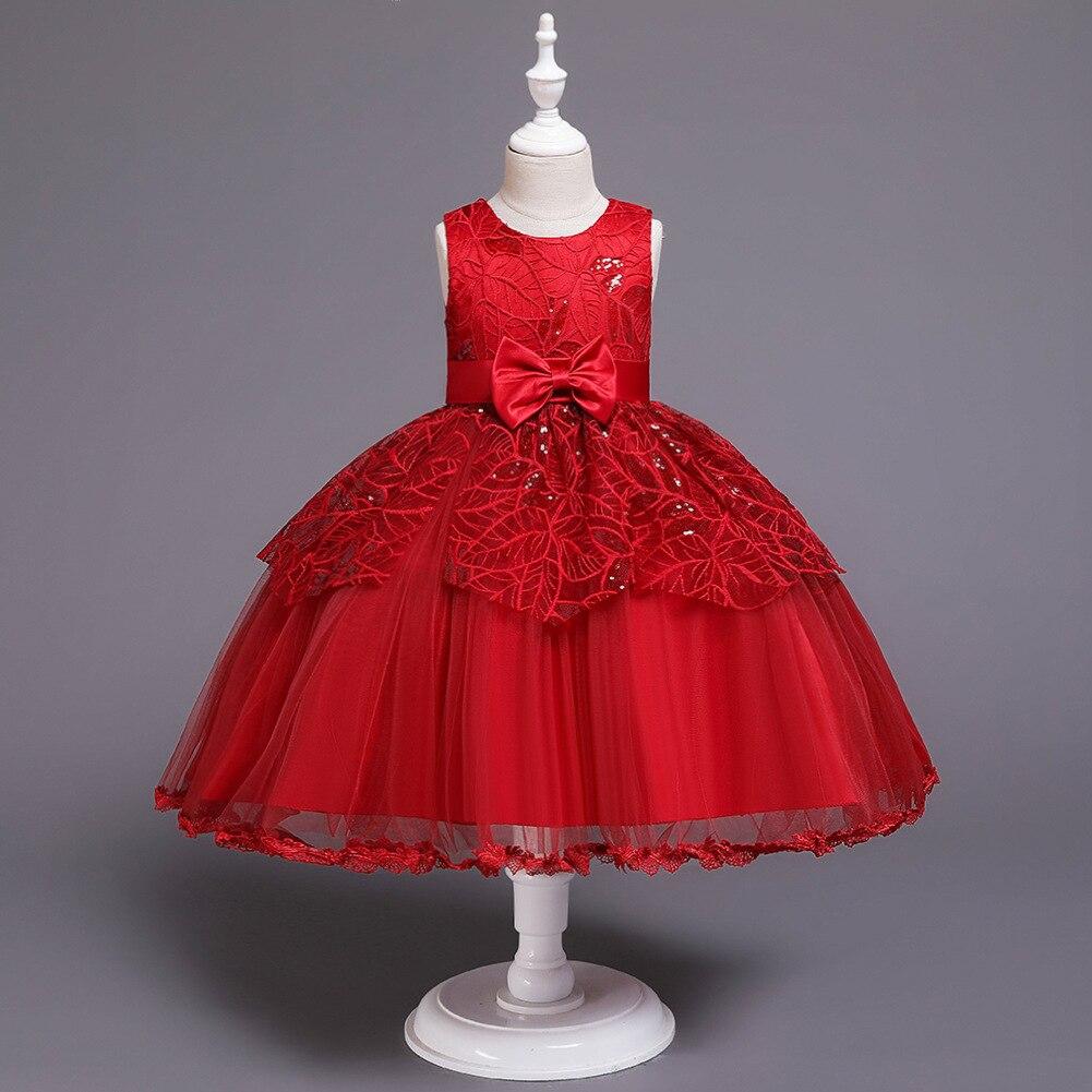 Кружевное платье белого цвета с цветочным принтом для девочек с милым бантом, с украшением в виде кружево, тюль, длинное вечернее платье для
