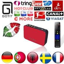 Suecia 4500 Canales de IPTV IPTV Caja AVOV TVonline + Europea Alemán Holandés Turco España Portugal Albanés IPTV Adultos Hot Club XXX