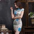 2016 Traditional Chinese Clothing Elegant Ladies Sexy Vintage Cheongsam Qipao Slim Mini Abendkleider Women Evening Cheongsam