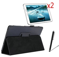 4in1 Luxury Magnetic Folio Stand Leather Case Cover 2x Screen Protector 1x Stylus For Samsung Galaxy