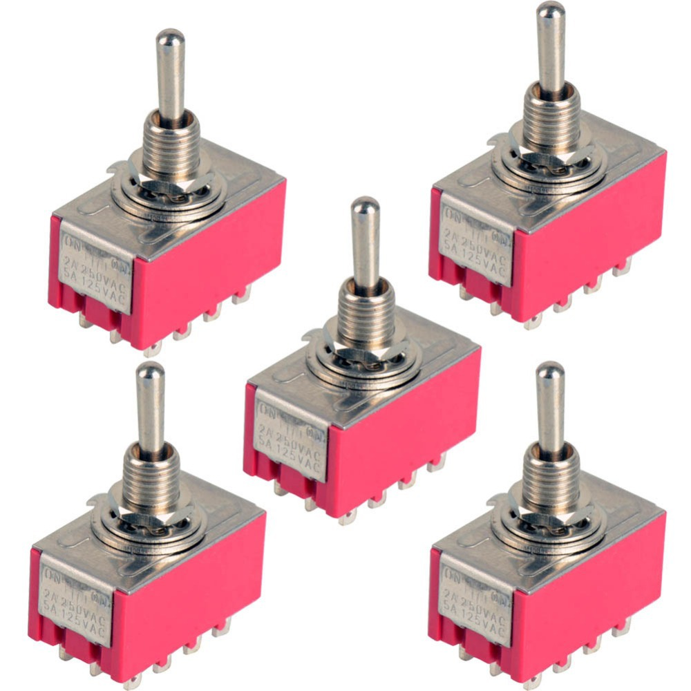 цена на 2017 New 12-Pin Mini Toggle Switch 4PDT 2 Position ON-ON 2A 250V/5A 125VAC P20