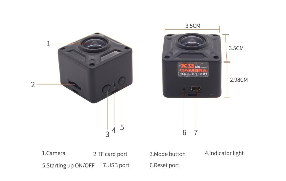 X2 Mini DV Camera Full HD 1080P Micro Camera Draagbare Mini Camera - Camera en foto - Foto 5