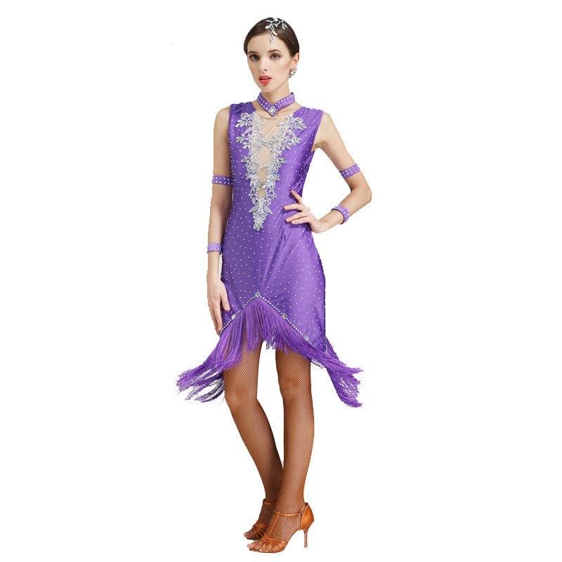 Precio más barato Vestido de baile latino borla vestido Latino Ropa ...