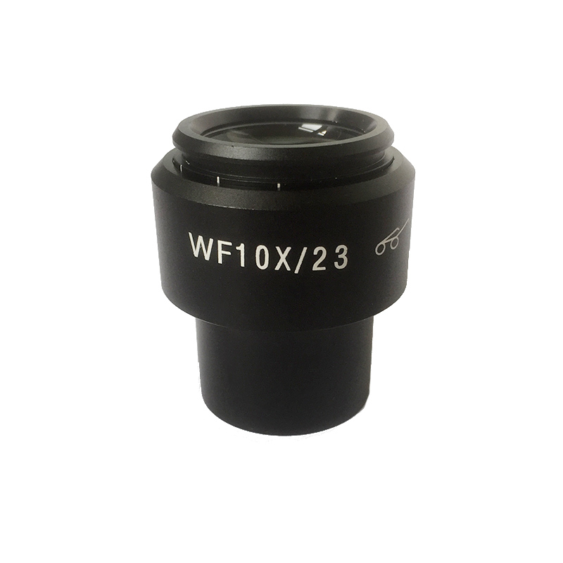 2PCS WF10x Eyepiece with Rubber Eye Cups Diopter Adjustable Mounting Size 30 mm Field of View 23 mm for Stereo Microscope wf10x 22mm adjustable stereo microscope eyepiece lens high eyepoint ocular with mounting size 30 5mm