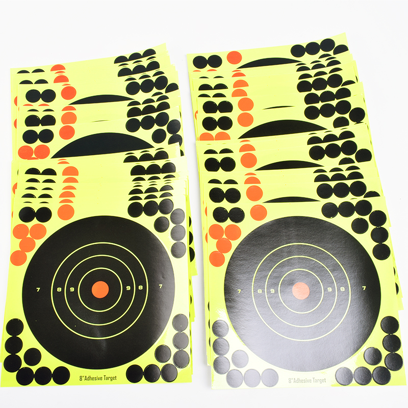 50/100 PCS 8 inch Adhesive Reactive Target Shooting Archery Shooting Targets paper for G ...