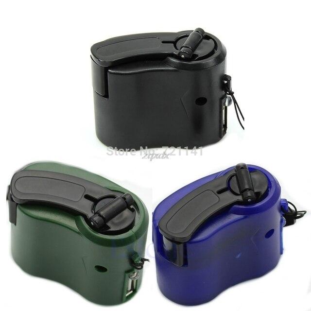 Khẩn cấp Hand Crank Sạc Điện Thoại Di Động USB Hướng Dẫn Sử Dụng Máy Phát Điện Cho Điện Thoại Di Động PDA MP3 MP4 Z07 Drop ship