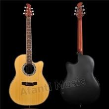 Лидер продаж! Afanti музыка супер круглая задняя/углеродного волокна задняя и боковая Акустическая гитара (ANT-125S)