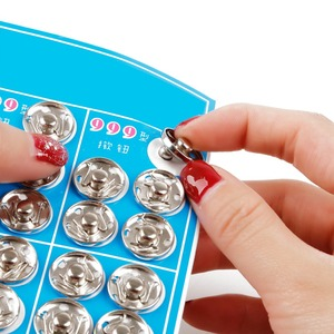 8/10/12/14/16/18mm Black White Small Metal Snap Fasteners Press Button Stud Sewing Clothing Accessories Embedded Buckle