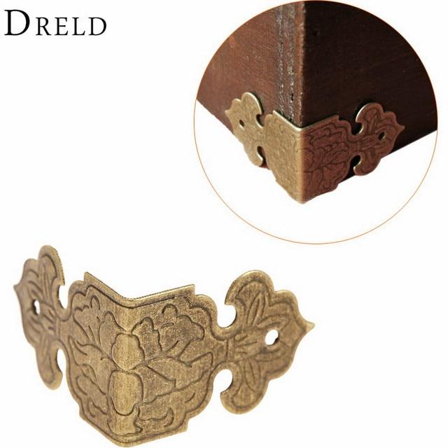 12pcs Decorative Corner Bracket For Furniture Wooden Box Feet Protector Corbel Ings