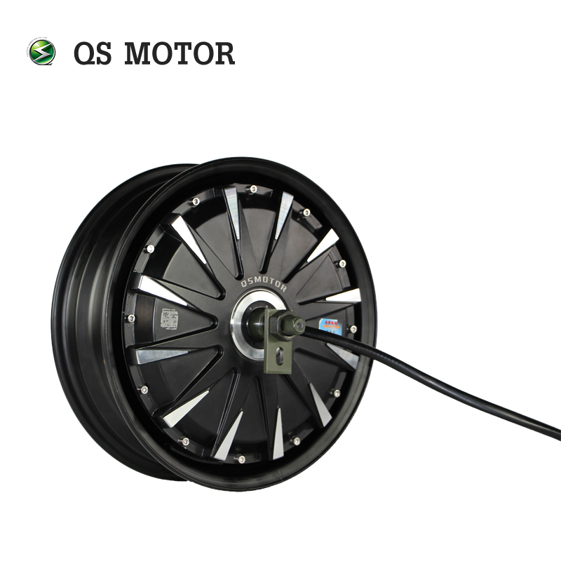 QS Motor 12*3.5inch <font><b>3000W</b></font> 260 40H V1 Brushless DC Electric Scooter Motorcycle Hub Motor image