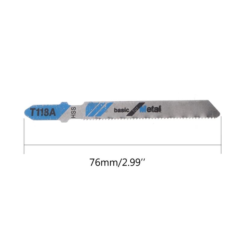 5 Pcs HSS T118A Jig Saw Blades Wood Metal Fast Cutting Reciprocating Saw   Blade  Jigsaw Blade  HSS (High Speed Steel)