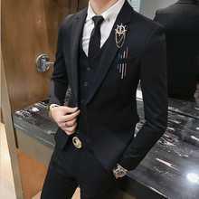 Лидер продаж бренд Осень мужская повседневная высокого качества одноцветное прополка и пиджаки маел тонкий Лондон Стиль Fit Легкий уход пиджак
