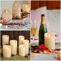 LED Flameless Battery Operated Candles Flickering Tealight for Christmas Wedding relighting candles decorative candles 175mm