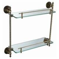 Бесплатная доставка латунь стеклянная полка, ванной, полки, античная бронза ванной комнаты, аксессуары для ванной комнаты ab012a 1