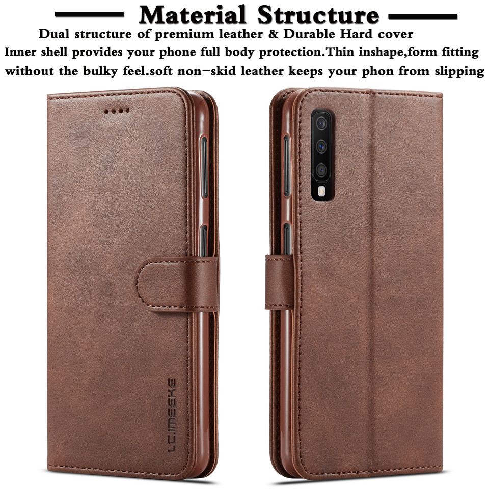 A7 2018 Case For Samsung Galaxy A7 2018 Case Leather Wallet Phone Case Samsung Galaxy A750 2018 Luxury Wallet Flip leahte Cover