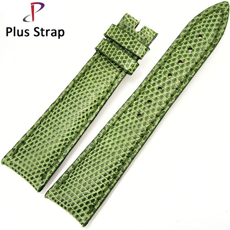21 21 mm Green Watch Band Strap for Zenith Watches Replacement Alligator Skin Fashion Genuine Leather Belt Wristband no Buckle alligator skin genuine leather watch band strap for omega watches accessories 16 mm 18 mm men bracelet wristband no buckle