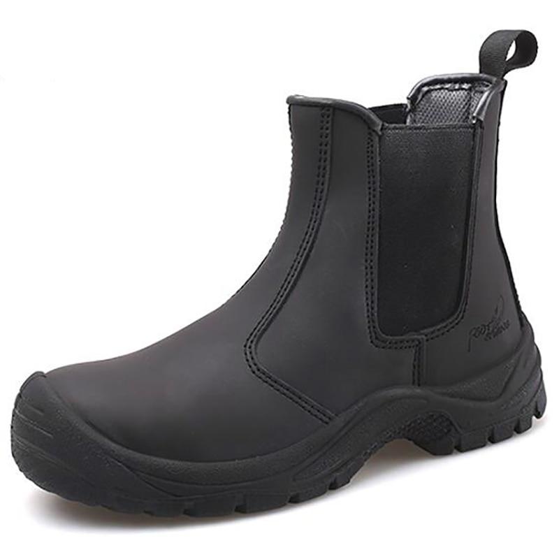 Anti Cuero Inglaterra Seguridad Botas Proteger Vaca Acero Trabajo Punteras Casual Zapatos De Tobillo Transpirable Estilo perforación PqzrwHPx