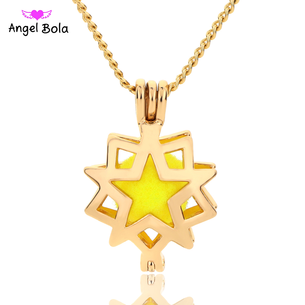 10PCS/LOT Angel Bola Jewelry Yoga Aromatherapy Essential Oils Surgical Perfume Diffuser Necklace Drop Shipping L150A