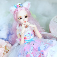 Diary Queen 1/4 BJD Doll Joint Body Rebecca with makeup include outfit shoes hair and Gift box gift toys ICY,SD(China)