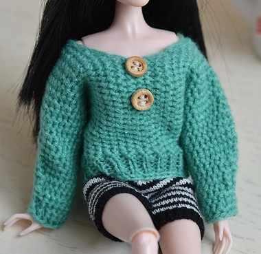 5 새로운 스타일 선택 선물 정장 니트 수제 스웨터 탑 코트 드레스 BB Xinyi 1:6 인형 BBI00300