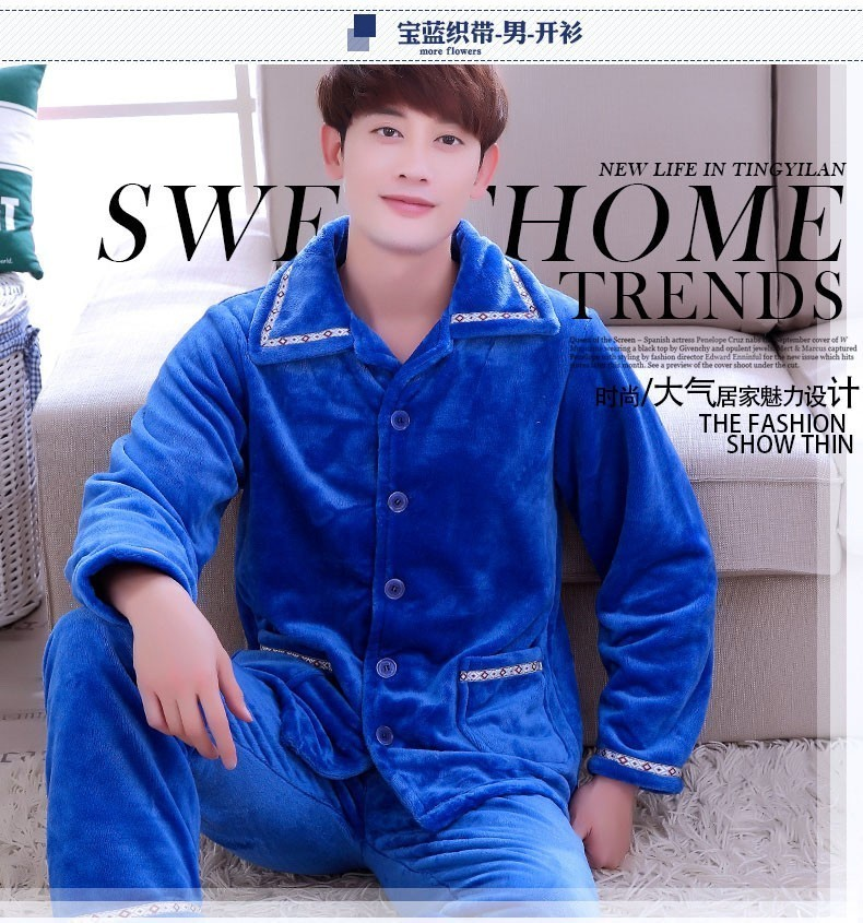 683ab5573 Detail Feedback Questions about Sleep Winter Warm Men Pajama Sets ...