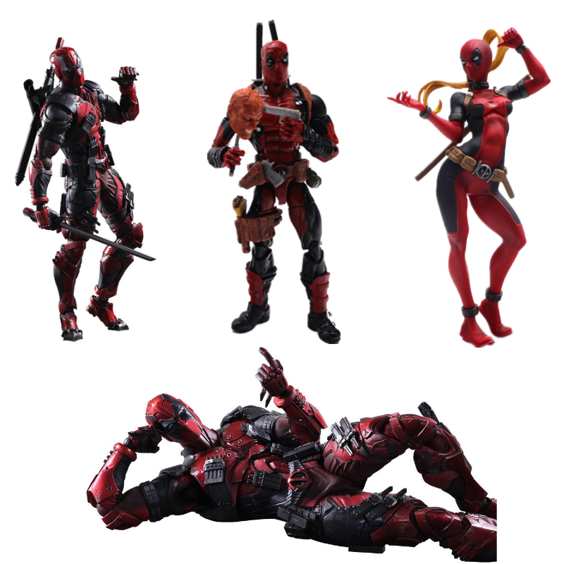 Marvel Legends 8/'/' Deadpool Plush Doll Action Figure Fashion Toys New Year Gifts
