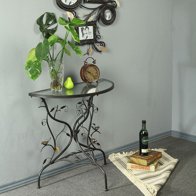 Wrought Iron Wall Corner Entrance Tables, Coffee Table, Living Room Sofa  Edge