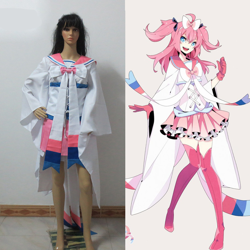 Pocket Monster Hot Sylveon Cosplay costume Anime custom For Christmas Halloween