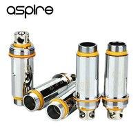 5 sztuk oryginalny aspire cleito podwójny cewki clapton 0.2ohm 0.4ohm ss316 cleito coil heads wymiany głowice rozpylające elektroniczny papieros