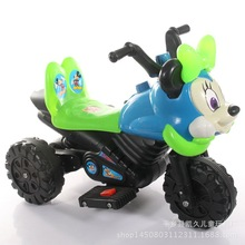 The new child electric motorcycle tricycle battery car cartoon toy car can sit factory direct wholesale