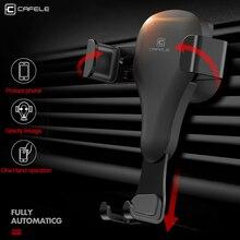 CAFELE الجاذبية رد فعل حامل هاتف السيارة في سيارة العالمي الهواء تنفيس جبل حامل لتحديد المواقع الهاتف الخليوي سيارة جبل حامل آيفون X XS 8