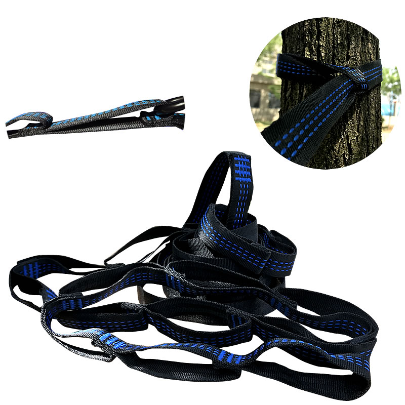Strong OutDoor Camping Hiking Hammock Hanging Belt Hammock Strap Rope Load 2000kg TB Sale wholesale Cheap Price hammock hanging belt tree strap nylon rope outdoor camping tool with buckles store 207