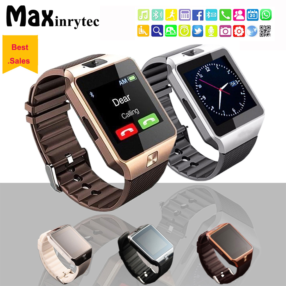 купить Smart Watches DZ09 Passometer Watch Phone Smart Watch For Android IOS dz09 Support SIM TF Card 0.3MP Camera DHL Free Ship по цене 6195.25 рублей