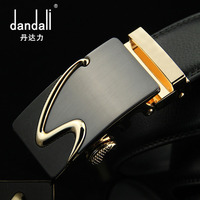 Genuine Leather Belt Men S Belt Alloy Automatic Buckle Leather Embossed Trousers With Buckle Lettering Black