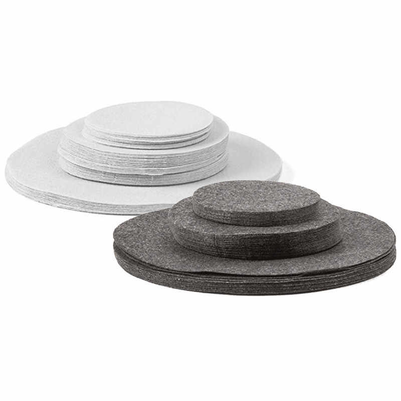 Recyclable felt dish bowl protection pad porcelain and tableware storage compartment kitchen artifact