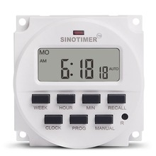 Timer Time Relay Switch AC 220V Programmable Digital Electric Weekly 7 Days Control Din Rail Mount for Appliance Dropshipping