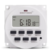 Timer Time Relay Switch AC 220V Programmable Digital Electric Weekly 7 Days Control Din Rail Mount for Appliance Dropshipping ahc15 ac 220v digital lcd power timer programmable time switch relay 25a 16a good temporizador with din rail good quality