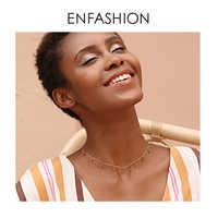 Enfashion blé Collier ras du cou femmes déclaration pin noix chaîne colliers couleur or Boho vacances bijoux Collier Femme PM193002