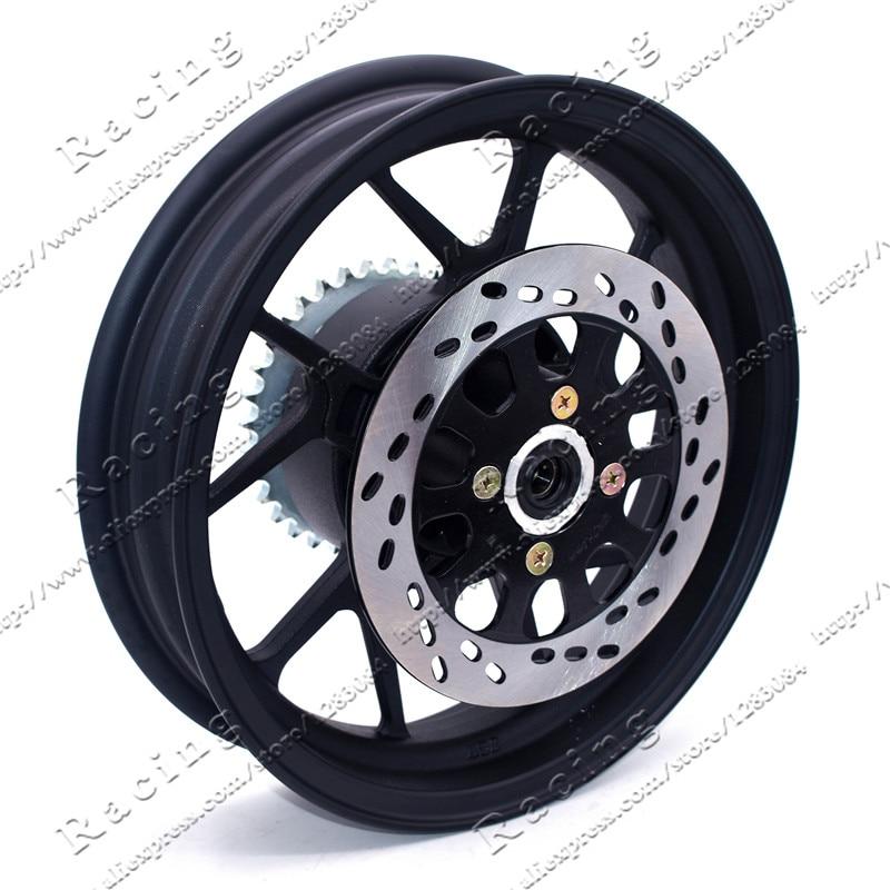2.75-12 pouce Avec #428-34 dent Pignon Arrière et 200mm Diamètre plaque Disque plaque Vide roue Jante pour Dirt Pit Bike Moto