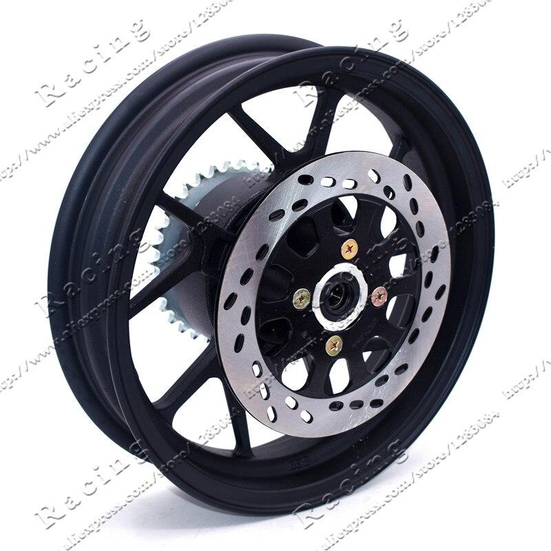 2.75-12 pouces avec pignon arrière #428-34 dents et jante de roue à vide plaque de disque de diamètre 200mm pour moto Dirt Pit Bike