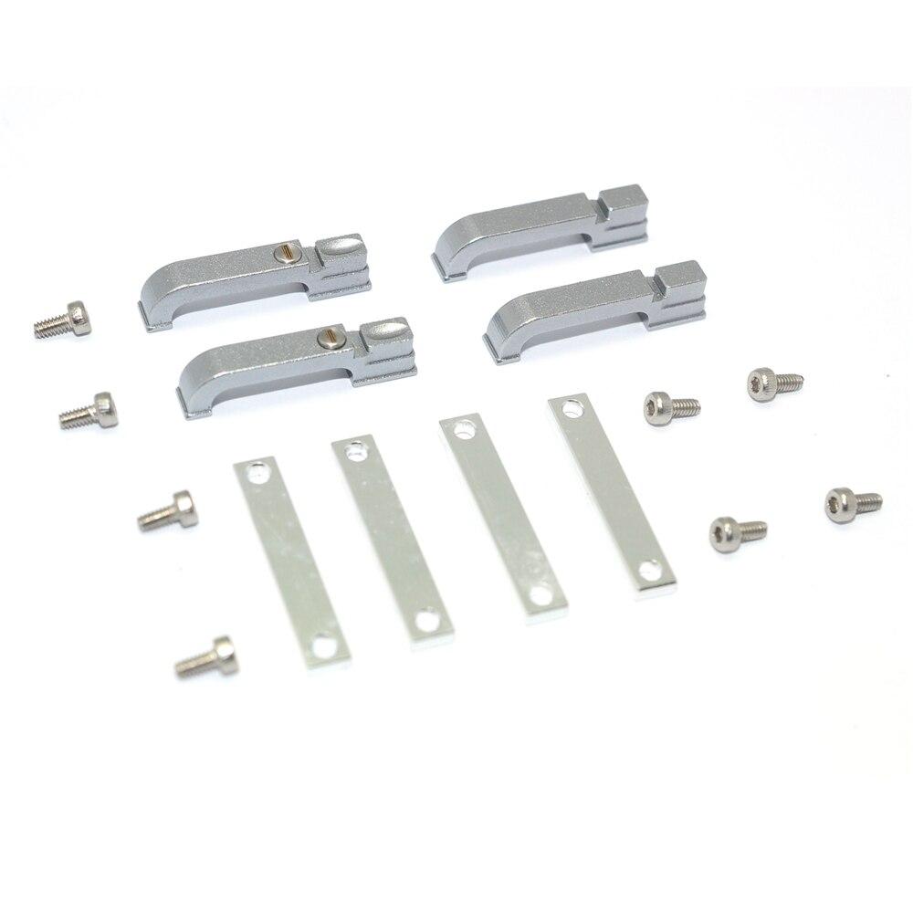 4pcs RC Car Metal Door Handle For Traxxas TRX4 & other Land Rover Series 1/10 Models High Quality Metal Door Handle & Screws
