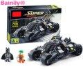 [Bainily] Супер Героя Бэтмен Гонки Грузовик Модель Автомобиля Техника Строительный Блок Устанавливает DIY Игрушки Совместимость Legoe Бэтмен детский Подарок