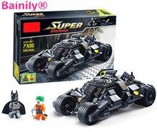 [Bainily] супер героя бэтмен гонки грузовик модель автомобиля техника строительный блок устанавливает diy игрушки для детей подарок